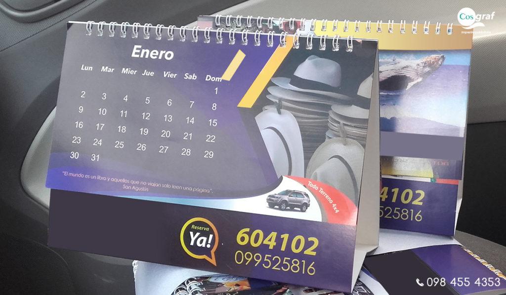 calendarios de escritorio quito imprenta calendarios empresariales